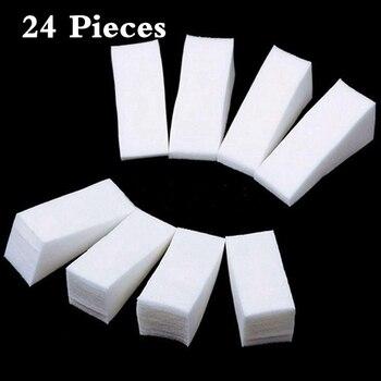 CLAVUZ 24pcs/lot Gradient Nails Soft Sponges for Simple Creative Nail Design Manicure DIY Woman Salon Nail Sponges Маникюр