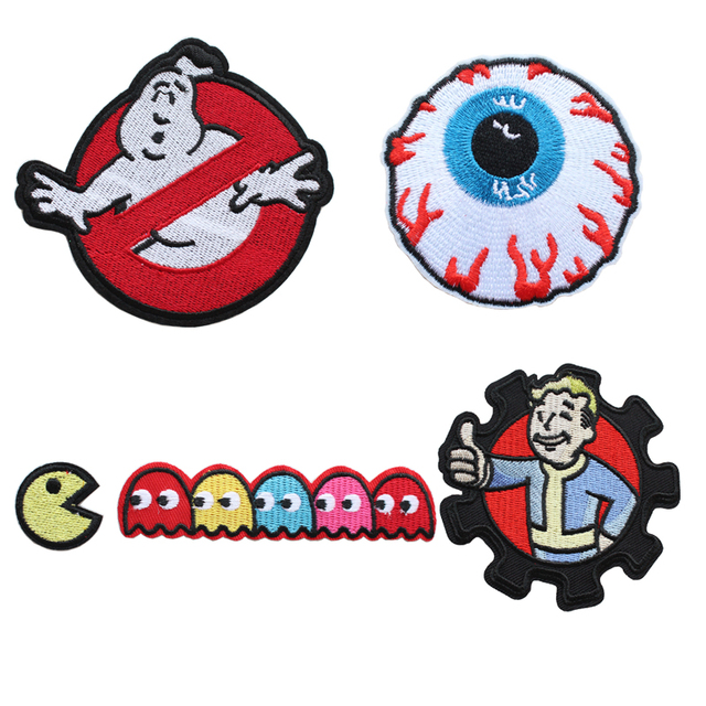 MISHKA hierro en parches de costura GHOSTBUSTERS patch Thumbs Up ...
