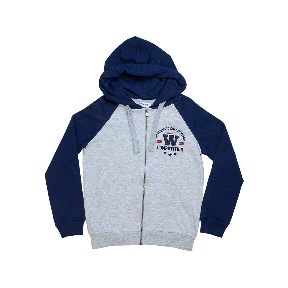 Hoodies & Sweatshirts Winkiki for boys WTB81069 Cardigan Sweatshirt Coat Children clothes Kids