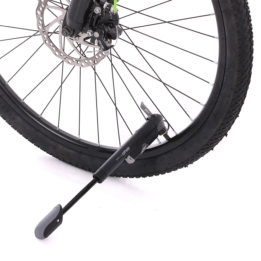 W/In-line Gauge Bicycle Pump Mountain Bike Mini Portable Pump  with Switchable Nozzle Cycling Accessories (A/V) (F/V) GIYO