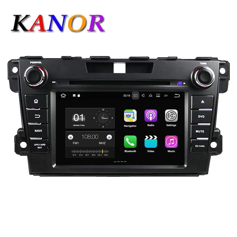 KANOR Quad Core 2+16G2din Car Radio Android 7.1 For Mazda CX-7 2012 2013 WFFI SWC Map BT Audio Car Radio GPS Android rom 16g 2 din android car dvd for mazda cx 5 2012 2013 2014 navigation radio audio gps ipod bluetooth russian menu