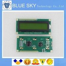 Бесплатная Доставка 10 шт. LCD1602 ЖК 1602 желтый экран с подсветкой ЖК-дисплей 1602A-5v