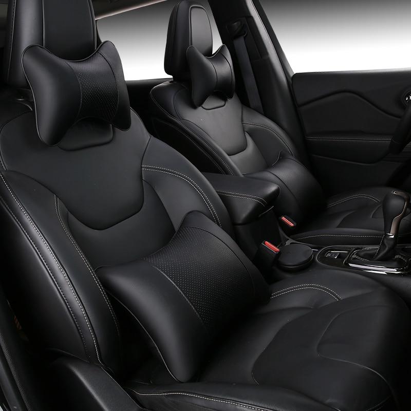 Car Neck Pillow Breathable Pu Leather Pillows Car Auto Seat Neck Head Rest Cushion Headrest Pillow Pad все цены