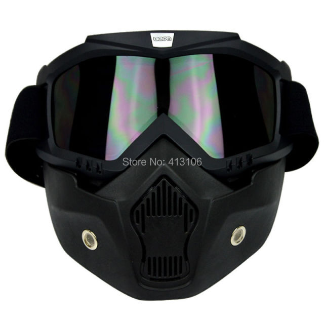 Anti UV Windproof Motorcycle Motocross ATV Dirt Bike Off Road Racing Goggles Match Mask
