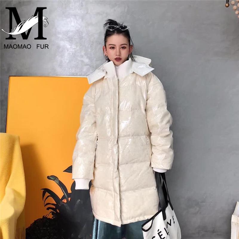 Manteau Zipper À Le Long White Canard Femelle Femmes Vers Capuche Chaud De Court Duvet Plume Short white Hiver Bas Veste Style Blanc Down Style X6Ixfqdfw