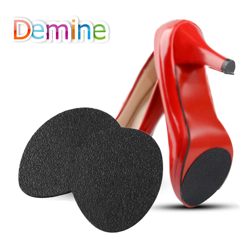 Demine Self-Adhesive Forefoot Pads For Lady High Heel Shoes Boot Sandal Anti-Slip Shoe Care Front Soles Protector Grip Inserts