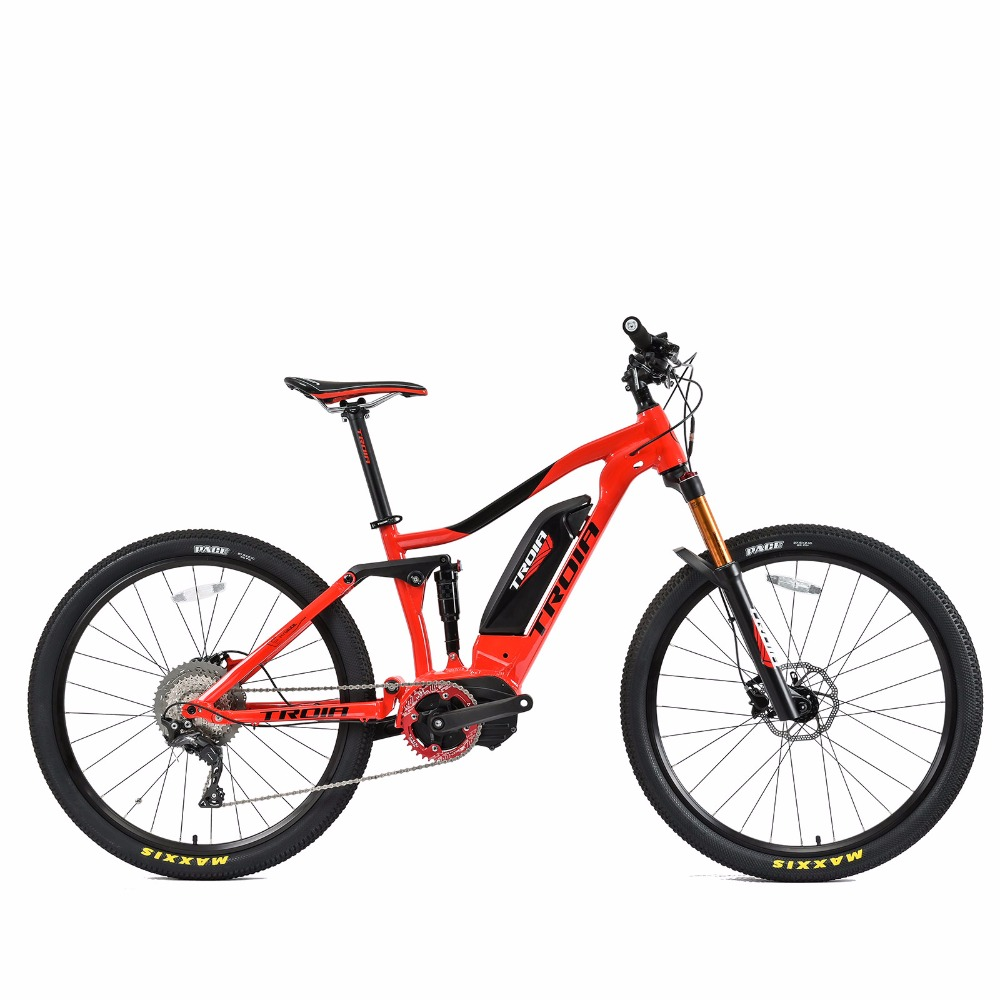 27.5inch E MTB Soft tail hybrid lithium tram 250w mid motor Power bicycle electric Travelling bicycle 11speed mtb e bikes