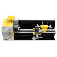 New High quality 600A Mini Lathe Stainless Steel Processing Lathe Household Metal Woodworking Lathe 110V / 220V Brushless 1.1KW