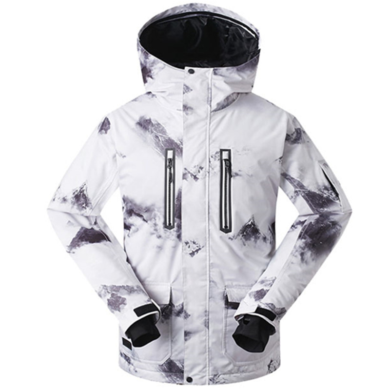 GSOU SNOW Winter Ski Jacket Men Waterproof 10K Warm Snow Jacket Ski Coat Windproof Breathable Mountain Skiing Suit Ski Clothing 4 colors winter women men camouflage ski jacket waterproof windproof warm ski coat breathable snowboard hooded jacket outwear