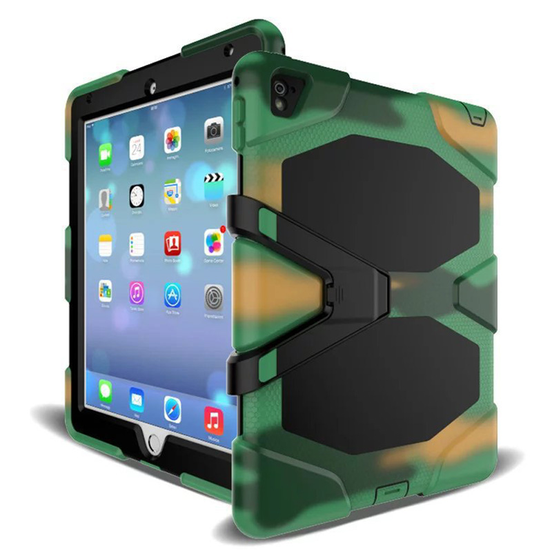 For IPad 2017 2018 Case Waterproof Shock Dirt Snow Sand Proof Extreme Army Military Heavy Duty Kickstand For A1822 A1823 A1893