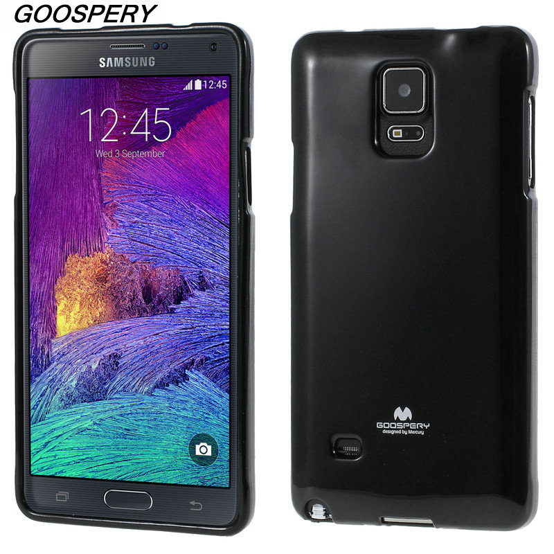 For Samsung Note 4 Case Original Mercury GOOSPERY Flash Powder TPU Cell Phone Cover Case for Samsung Galaxy Note 4 N910
