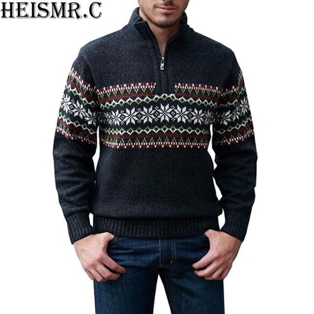 2017 di Inverno dei Nuovi Uomini Pullover Mens Casual Maglione Uomo Slim  Fit Maglione di Lana ae59e248f79