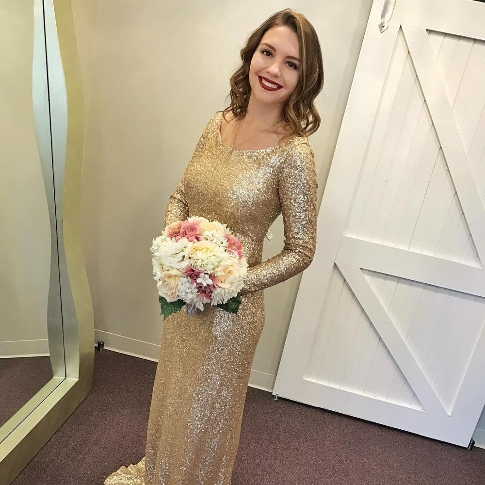 Shinning font b champagne b font font b gold b font sequins long sleeves font bg shinning champagne gold sequins long sleeves bridesmaid dresses open back 2017china mainland ombrellifo Images