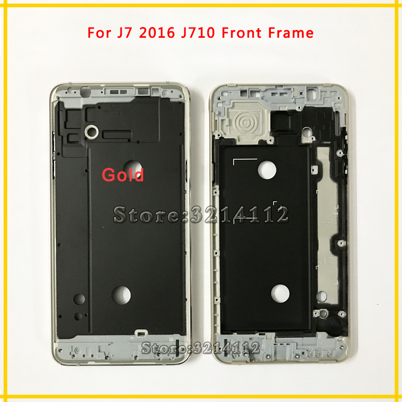 Replacement New Front Frame Middle Plate Frame Bezel Housing Cover For Samsung Galaxy J7 2016 J710 Free shipping