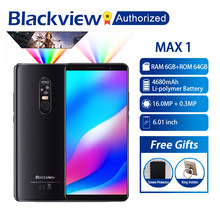 Blackview MAX 1 MT6763T Android 8.1 Cellphone Mini Projector Portable Home Theater 6GB+64GB NFC OTG LTE 6.01'' Smartphone MAX1(China)