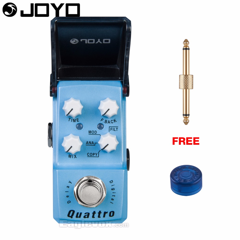 Joyo Ironman JF-318 Quattro Digital Delay Guitar Effect Pedal True Bypass with Free Connector and Footswitch Topper mooer ensemble queen bass chorus effect pedal mini guitar effects true bypass with free connector and footswitch topper