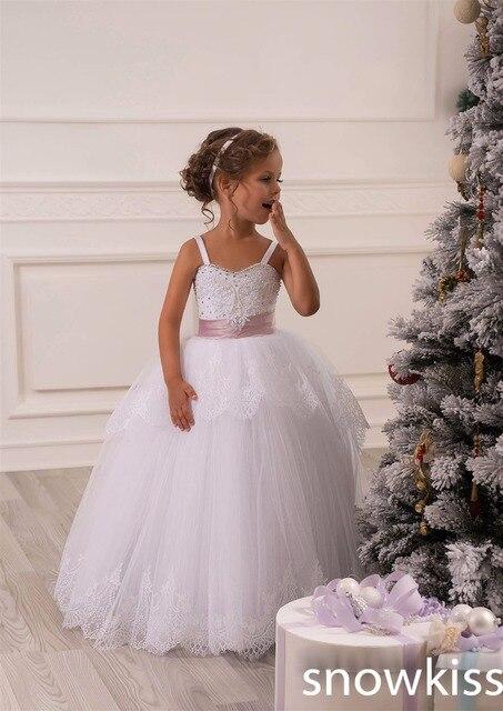 Neue Nette Weiße Baby parteikittel Prinzessin Ballkleid mit ...