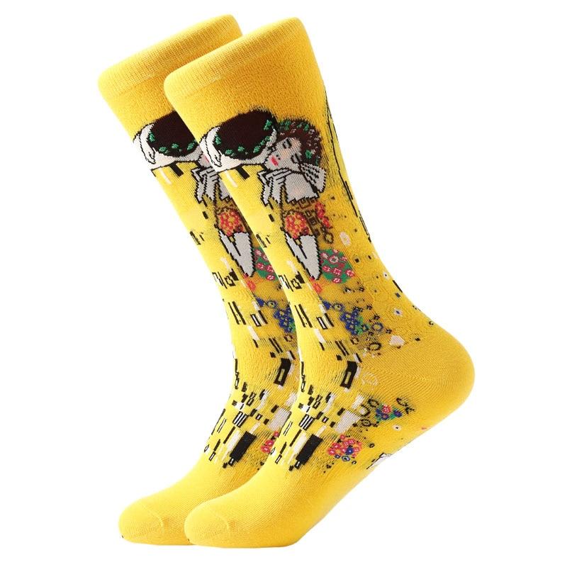 Unisex Socks-Retro Art-Popular Paintings Patterns Stockings