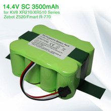 14.4V 3500mAh Ni-MH Vacuum Cleaner battery for KV8 Cleanna XR210 XR510 series XR210A XR210B XR510A XR510B Zebot Z520,Fmart R770