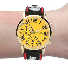 Watch Men 2019 Brand Date Luxury Outdoor Sports Watch Silicone Strap Double Eyes Simple Dial Men's Watch(China)