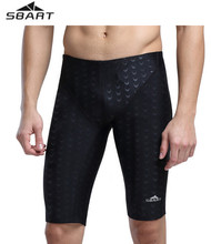 9ff6eb7f7a SBART Men's Sharkskin Design Snorkeling Surfing Diving Swimming Trunks  Jammer Competition Professional Training Swimwear Shorts(