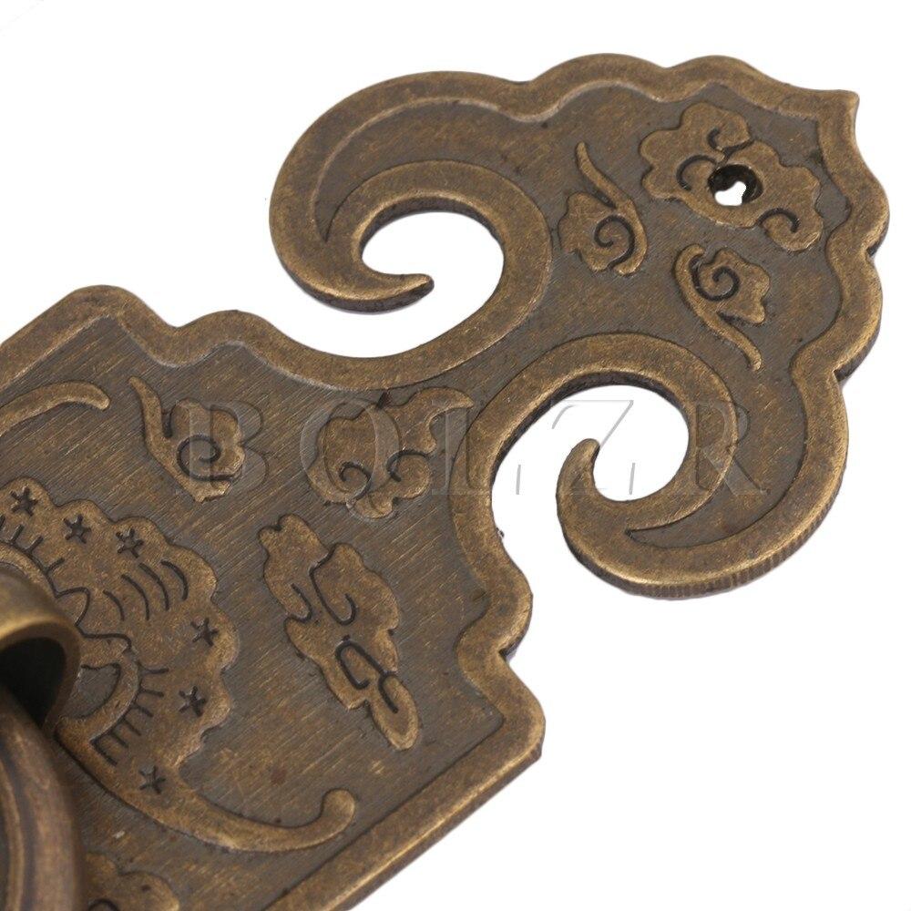 2 STÜCKE BQLZR 10x3,2 cm Bronze Chinesische Möbel Hardware Messing ...