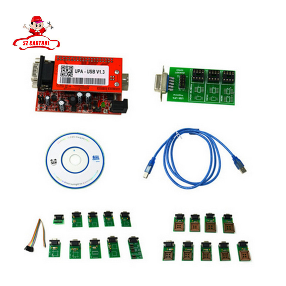 New UPA-USB UPAUSB UPA USB Programmer With Full Adaptors V1.3 ECU Chip Tunning OBD2 Diagnostic Tool Free Shipping
