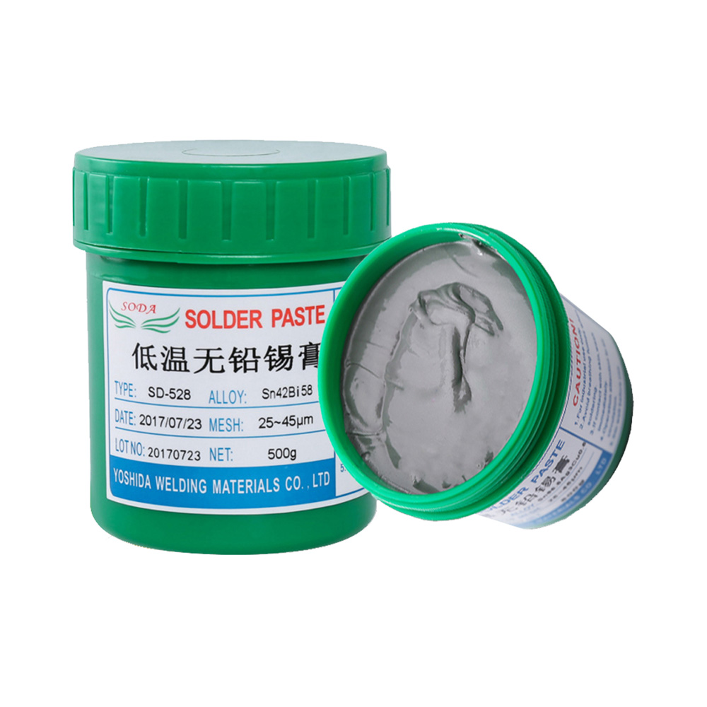 Low Temperature Lead-Free Solder Paste SD-528 200g/500g High Quality Fresh Low Temperature BGA Solder Paste for SN42 BI58  SMT