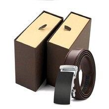 leather strap male automatic buckle belt for men authentic girdle trend men's belts ceinture