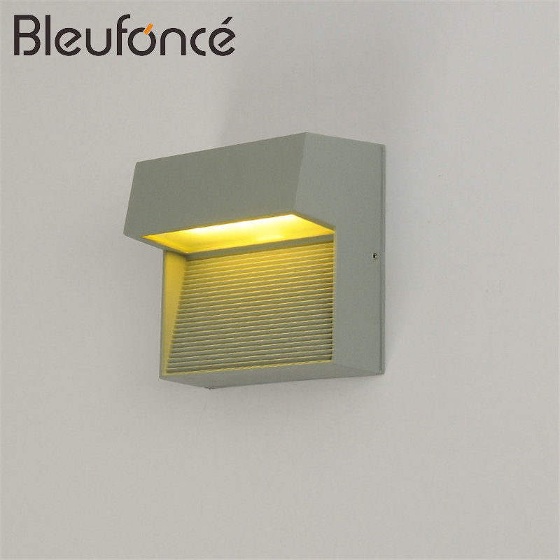 Outdoor Waterproof LED Wall Lamp Lighting indoor 5W LED Wall Sconce Garden lamps Modern simple Outdoor Wall Lamps AC85-265V BL09 outdoor waterproof led wall lamp porch garden led wall light lighting modern simple aluminum wall sconce outdoor wall lamps bl17