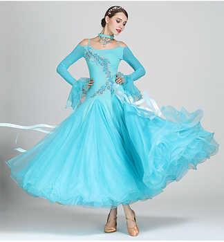 Standard Ballroom Dance Dresses Women 2019 New Design Waltz Dancing Skirt Adult 7 Color Waltz Ballroom Competition Dress - DISCOUNT ITEM  21% OFF All Category