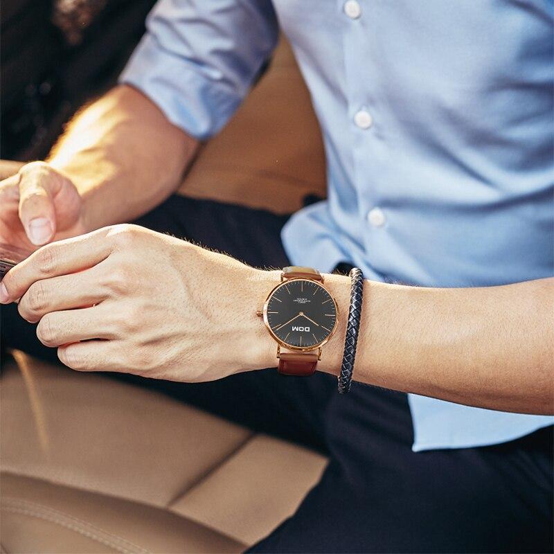 Męskie Zegarki DOM Marka Luksusowy zegarek Kwarcowy Casual zegarek - Męskie zegarki - Zdjęcie 4