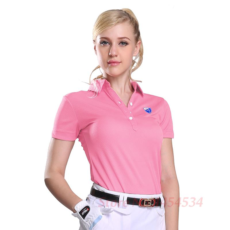 pgm high quality 2018 women top polo shirts lady short