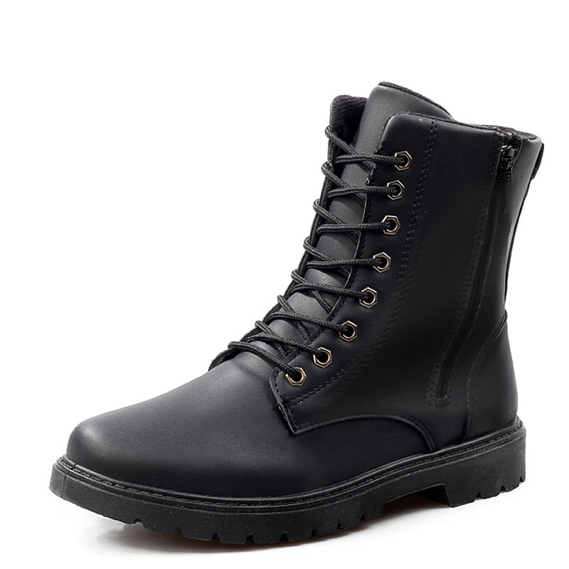 Printemps 2018 New Chaussures Portable marron Bottes Confortable Jeune De Cool En Hommes Noir Cuir Pour Décontractées Garçon Mode mN0vyOn8w