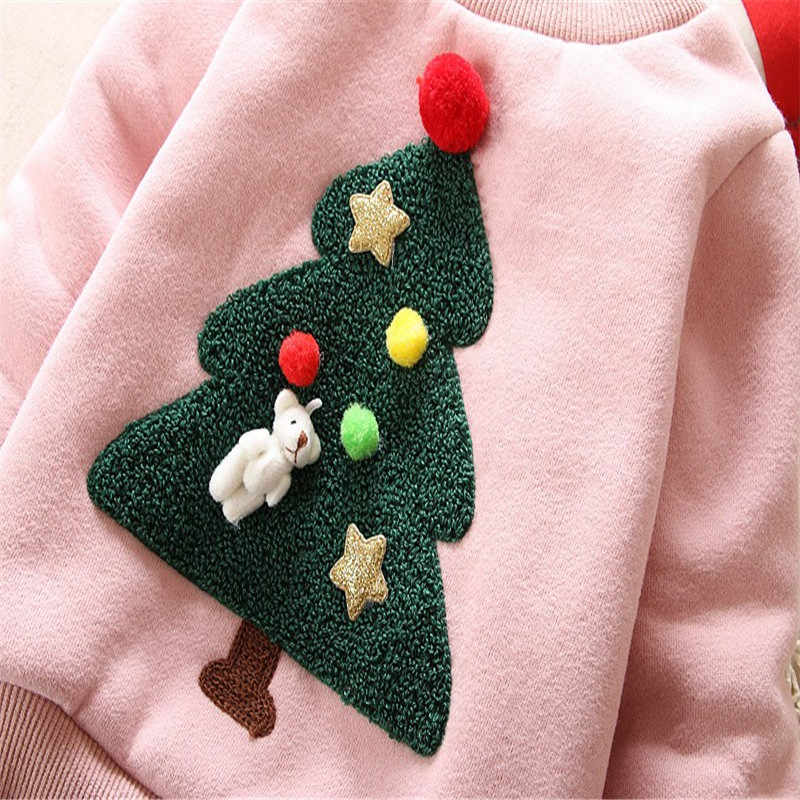 BibiCola 아기 스웨터 소녀 소년 겨울 착용 따뜻한 만화 스웨터 어린이 두꺼운 캐주얼 벨벳 의상 아이 옷 슈트