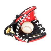 PU Leather Brown Baseball Glove Softball Outdoor Team Sports Left Hand Baseball Practice Equipment