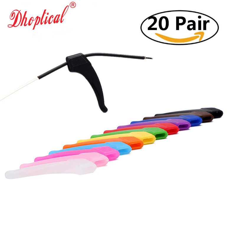 free shipping 20pair glasses silicone temple ,colorful sports temple ,swimming playing avoid glasses slip wholesale