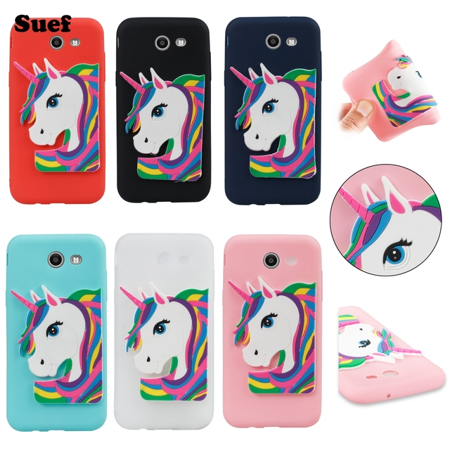 big sale f655d 93954 US $4.5 |Unicorn Case For Galaxy J7 Perx Cases Samsung J7Sky Pro Soft  Silicone Case Galaxy Halo Mobile Shell SM J727T Cover Galaxy J7Perx-in  Fitted ...