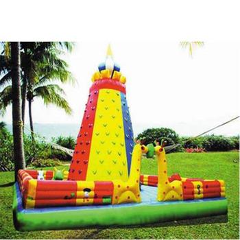 Wysokiej jakości dostosować parku rozrywki sportowe gry dla dzieci dmuchane ścianka wspinaczkowa dla rozrywki tanie i dobre opinie XZ-CW-039 Dziecko High quality customize amusement park sports games children inflatable 0 5mmPVC L8m*W8m*H8m 110-220v Large Outdoor Inflatable Recreation
