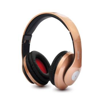 1e0ae6a9dfd Auriculares Bluetooth inalámbricos con micrófono de sonido Intone  compatible con tarjeta TF Radio FM auriculares bajos estéreo para  auriculares iPhone ...