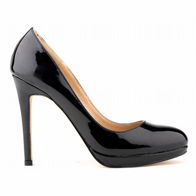 ФОТО 2015 Office & Career  Fashion Women  Summer Pumps PU (PU) Patent Leather Office Lady Platform Basic Slip - OnThin Heels Pumps