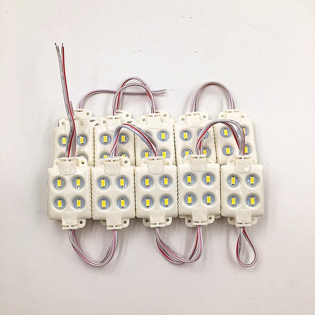 20pcs/lot 5730 4leds injection molding led module,DC12V, cool white,waterproof IP65 for advertising board Blister word