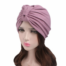 2018 Women Hijab Cap Hat Elastic cloth thick Cap