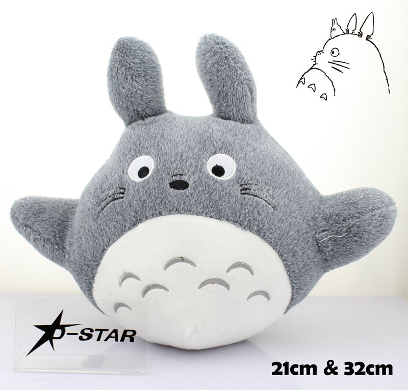 EMS Shipping 12pcs Cute 12 or 8 Totoro Anime My Neighbor Totoro 32cm or 21cm Plush Toys Soft Stuffed Toy Kids Plush Doll Gift free shipping about 60cm cartoon totoro plush toy dark grey totoro doll throw pillow christmas gift w4704