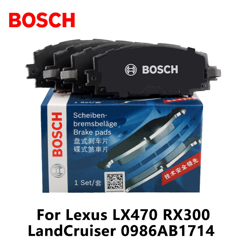 4pieces/set Bosch Car Rear Brake Pads For Lexus LX470 RX300 LandCruiser 0986AB1714