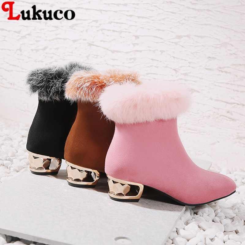 2019 новая распродажа зимние теплые сапоги Короткие Плюшевые ботинки большой плюс