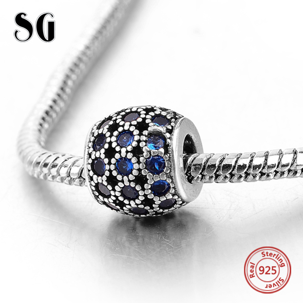 Silver Galaxy Fit Authentic Pandora Charms Bracelet Silver 925 Original Daisy With Zirconia Beads For Women Fashion DIY Jewelry