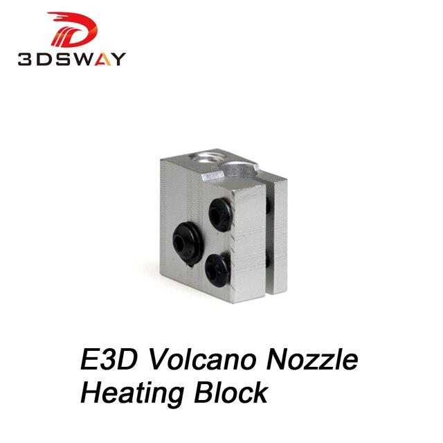 Bloc de chauffage pour imprimante 3D, Kit pour buse volcan E3D Hotend pour RepRap, 3 dsways