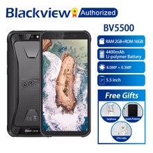 "Blackview BV5500 Cep IP68 Su Geçirmez Smartphone 5.5 ""Ekran 2 GB RAM 16 GB ROM Android 8.1 MTK6580P Dört Çekirdekli 1.3 GHz 8MP 3G OTG"