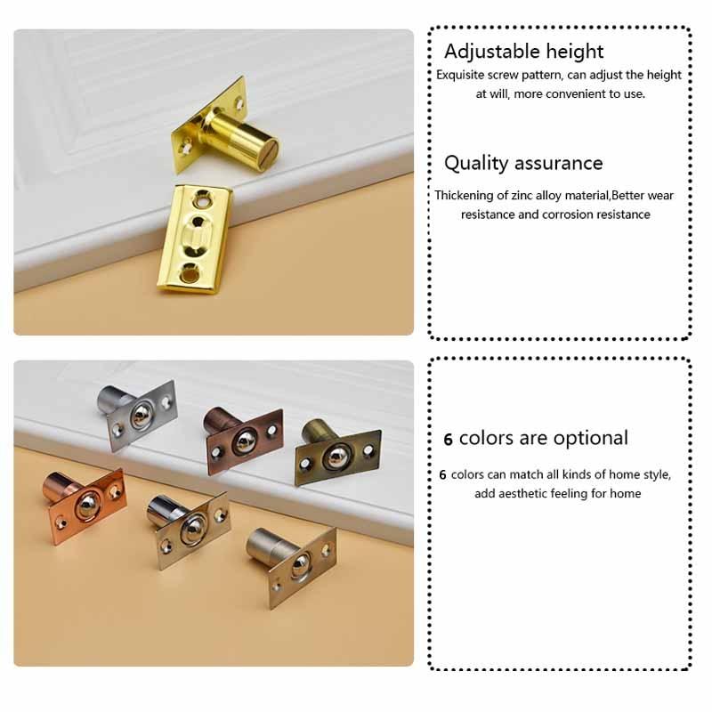2pcs Door Stop Closer Stoppers Damper Buffer Magnet Cabinet Catches With Screws For Kitchen bathroom bedroom door in Door Stops from Home Improvement